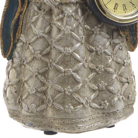 Figurina iepure, din polirezina cu ceas, 11x10x24 cm [4]