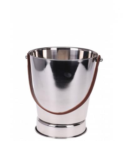 Frapiera pentru Sampanie cu maner din Piele Maro, 24x27 cm, Inox, 1,11 Kg1