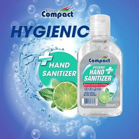 Gel Antibacterian, 50 ml, dezinfectant, igienizant pentru maini, Ultra Compact Hygienic5