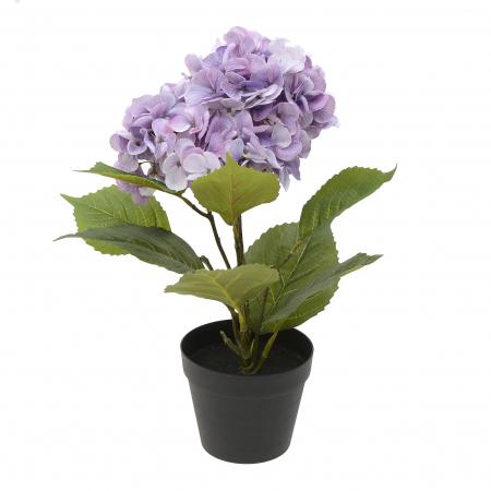 Hortensie artificiala culoare mov 50 cm in ghiveci1