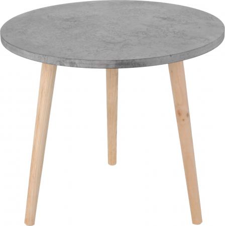 Masa cafea blat MDF culoare gri cu picioare lemn brad 49x42x2 cm [2]