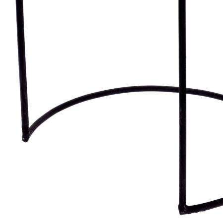 Masa cu blat din lemn de Teak, cu picioare din metal, diametru 38 cm, inaltime 45 cm6