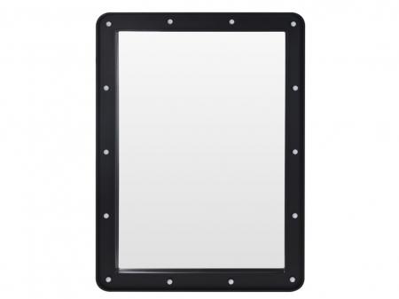 Oglinda 14 leduri rama plastic neagra 70x50x3.5cm1