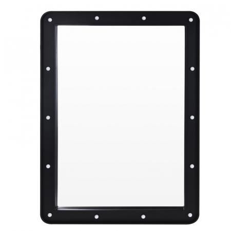 Oglinda 14 leduri rama plastic neagra 70x50x3.5cm0