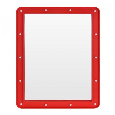 Oglinda cosmetica cu 14 leduri, rama de plastic Rosie, 70x50x3.5cm2