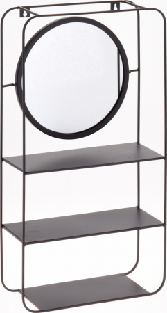 Oglinda 29x55x12 cm cu raft din metal si lemn G 1470 g1