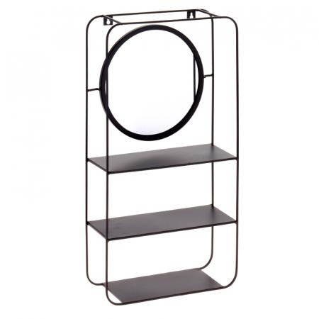 Oglinda 29x55x12 cm cu raft din metal si lemn G 1470 g0