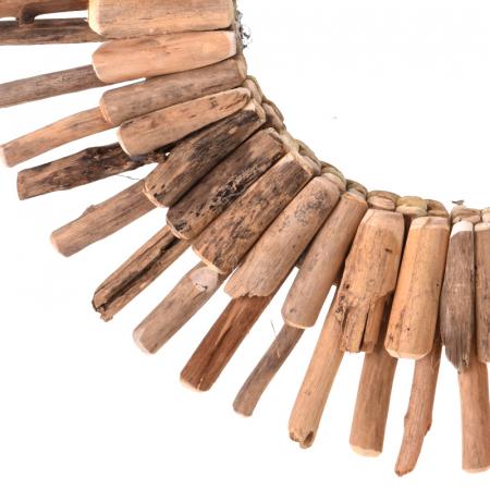 Oglinda 60 cm, rama din lemn Driftwood, maro, greutate 1.85 kg6