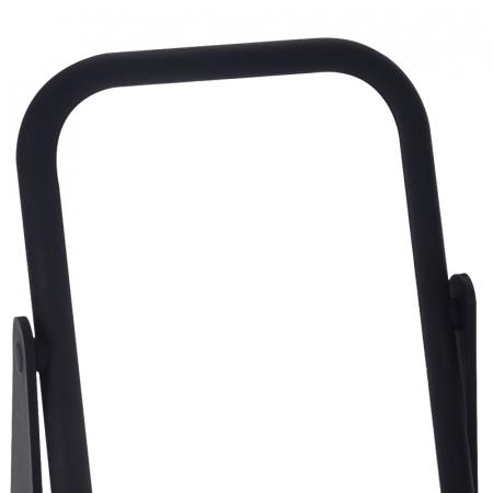 Oglinda cu fata dubla, o fata marire x3, rama cauciuc culoarea neagra, dimensiuni 18x14 cm4