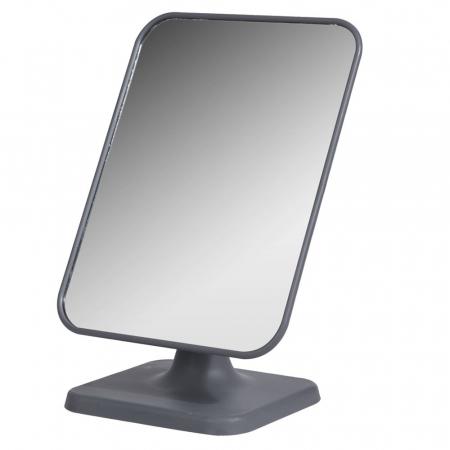 Oglinda cu picior Dim 15x21x11cm , oglinda 14.5x19 cm rama gri0