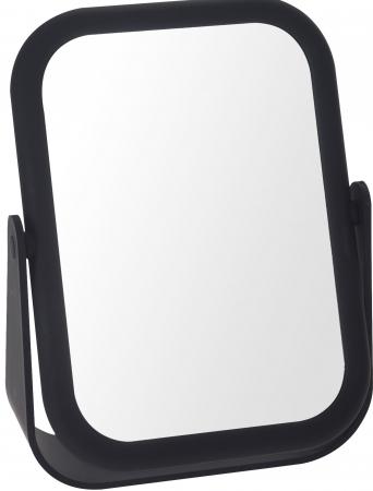 Oglinda cu fata dubla, o fata marire x3 cu rama Neagra din cauciuc, Dim 21x15cm0