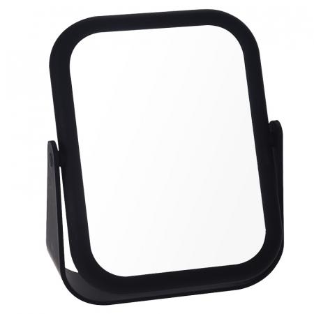 Oglinda cu fata dubla, o fata marire x3 cu rama Neagra din cauciuc, Dim 21x15cm2