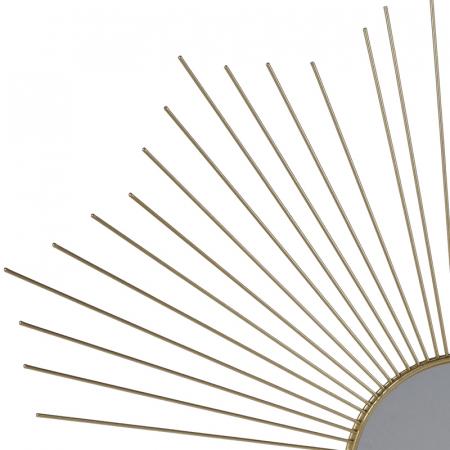 Oglinda decorativa din metal, culoarea Auriu, Diam 64 cm1