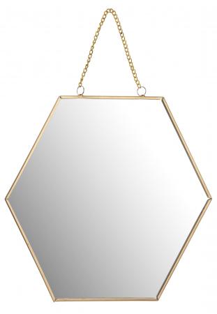 Oglinda rama metal aurie forma fagure 25 cm0