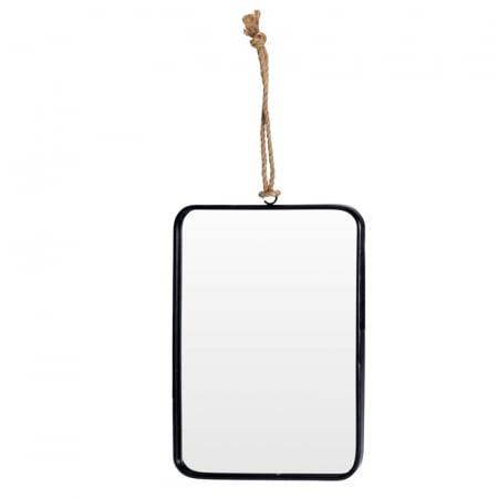 Oglinda rama Neagra, rama din metal dreptunghiulara, 25.5x18.5 cm2