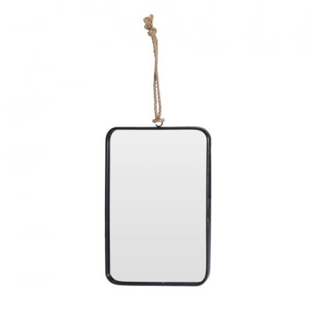 Oglinda rama Neagra, rama din metal dreptunghiulara, 25.5x18.5 cm5