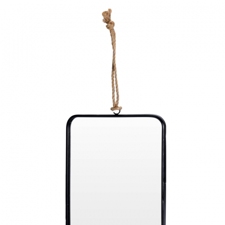 Oglinda rama Neagra, rama din metal dreptunghiulara, 25.5x18.5 cm3