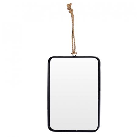 Oglinda rama Neagra, rama din metal dreptunghiulara, 25.5x18.5 cm6