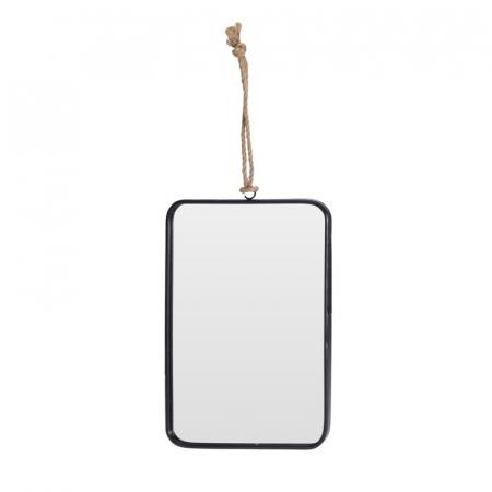Oglinda rama Neagra, rama din metal dreptunghiulara, 25.5x18.5 cm1