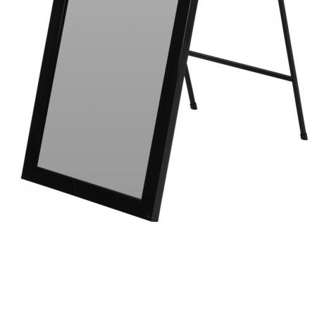 Oglinda rama plastic 36x126 cm culoare neagra cu picior metal3