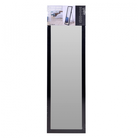 Oglinda rama plastic 36x126 cm culoare neagra cu picior metal5