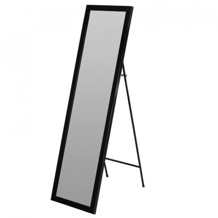 Oglinda rama plastic 36x126 cm culoare neagra cu picior metal4
