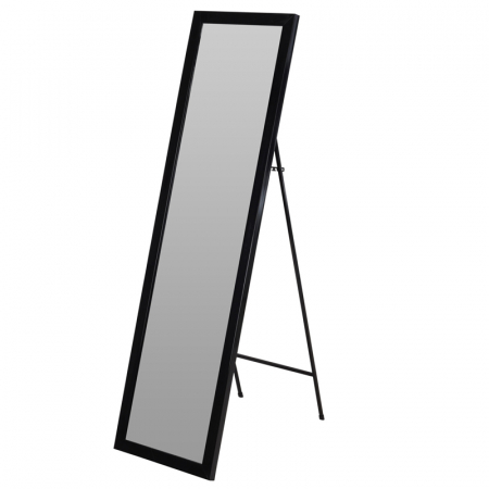 Oglinda rama plastic 36x126 cm culoare neagra cu picior metal0