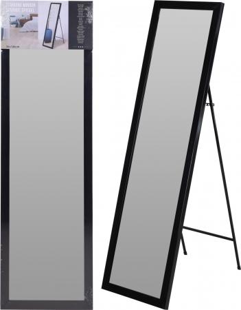 Oglinda rama plastic 36x126 cm culoare neagra cu picior metal7