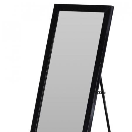 Oglinda rama plastic 36x126 cm culoare neagra cu picior metal1