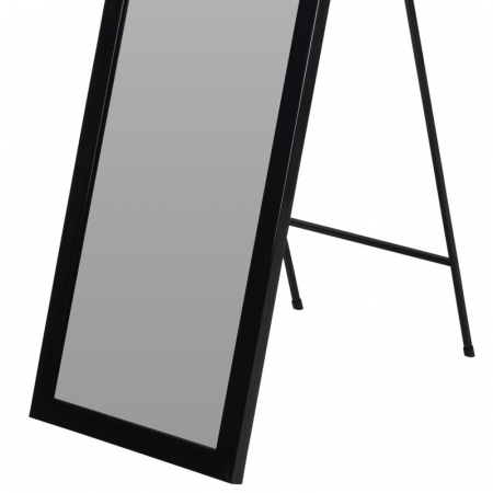Oglinda rama plastic 36x126 cm culoare neagra cu picior metal2