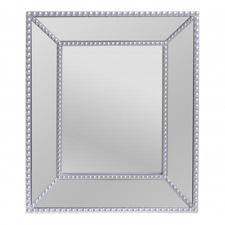 Oglinda rama plastic culoare argintie 32Χ5Χ371