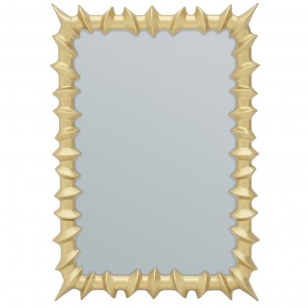 Oglinda rama plastic culoare aurie 35x50 cm [1]