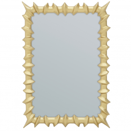 Oglinda rama plastic culoare aurie 35x50 cm [0]