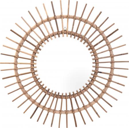 Oglinda rama ratan kubu, Diametru 90 cm, Maro, G 2.5 kg0