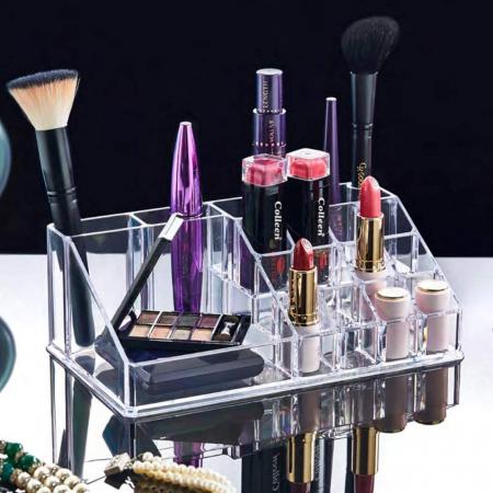 Organizator de Cosmetice, NAGO®, 16 compartimente, Plexiglas, 22 x 13 x 8 cm, Transparent14