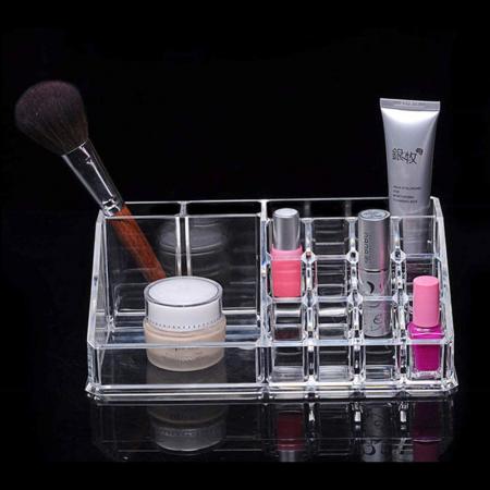 Organizator de Cosmetice, NAGO®, 16 compartimente, Plexiglas, 22 x 13 x 8 cm, Transparent15