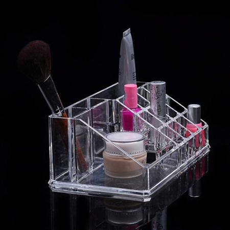 Organizator de Cosmetice, NAGO®, 16 compartimente, Plexiglas, 22 x 13 x 8 cm, Transparent16