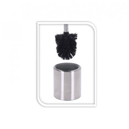 Perie WC cu suport inox 35x10 cm, culoare argintie1