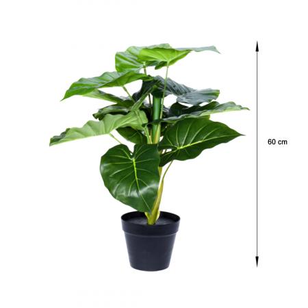 Planta artificiala in ghiveci, Alocasia, inaltime 60 cm [1]