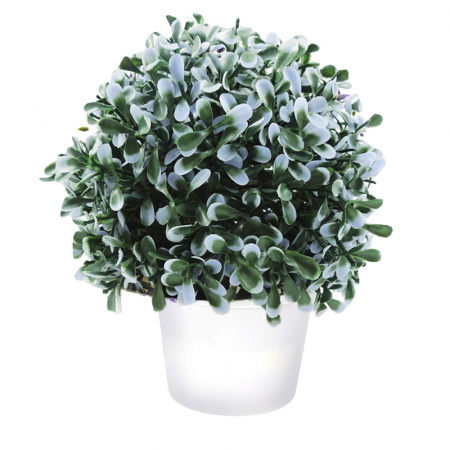 Planta artificiala verde cu mov deschis 20cm in ghiveci [0]