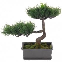 Bonsai artificial 23cm verde inchis tip pin0