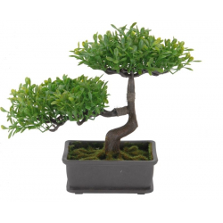 Bonsai artificial 23cm verde deschis2