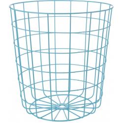 Cos depozitare metallic, 32 x 34,5 cm, albastru0
