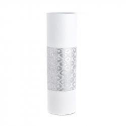 Vaza alb/argintiu, din polirezina, 50 cm x 15 cm0