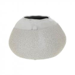 Vaza ceramica 12.5 cm culoarea fildes0