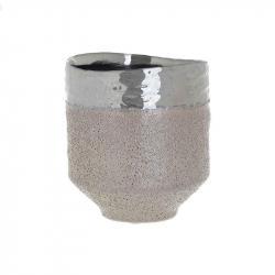 Vaza ceramica, Bej, 14.5cm x 13cm0