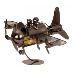 Suport pentru Sticla de Vin din Metal, model Avion, Capacitate 1 Sticla, Cupru, H30cm L 49 cm1
