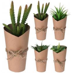 Planta artificiala, Cactus in ghiveci ambalat in carton, 20 cm1