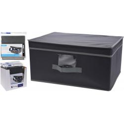Cutie depozitare din material textil cu capac, 31x28x15.5cm, culoare Gri1