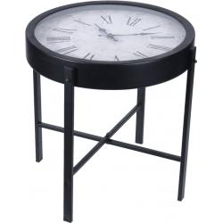 Masa rotunda din metal, pentru cafea, cu ceas, 40x40x40cm0